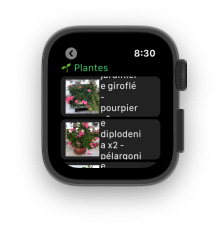 GreenMine Apple watch plantes